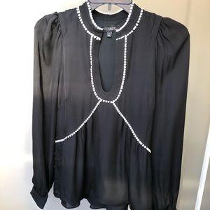 Intermix Black Blouse